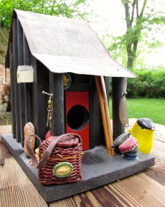 A fish hawk's cozy cabin overlooking the trout pond.