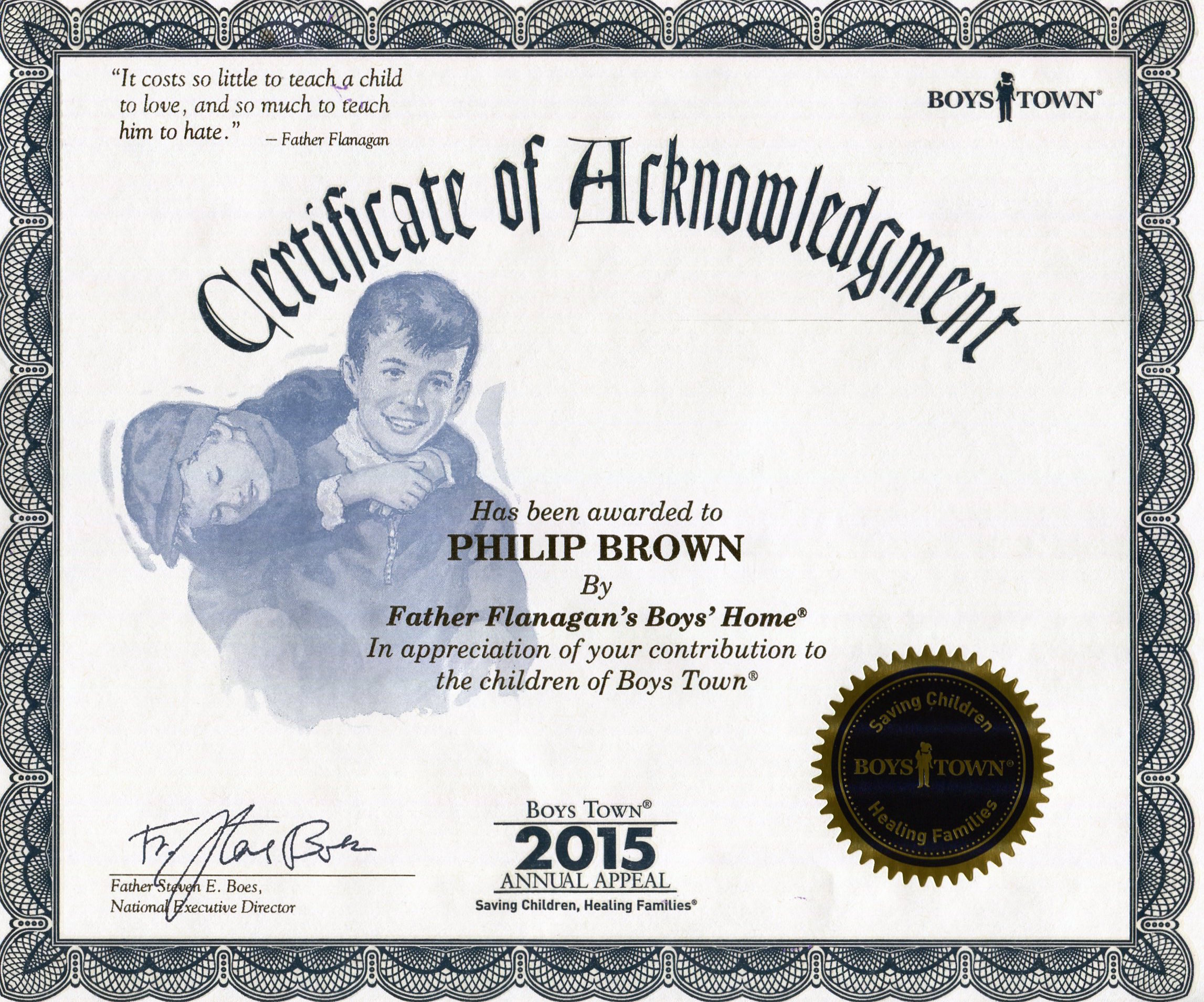 How you make personalization pay off phil brown boystown certificate xflitez Images