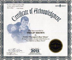 Boystown  Certificate