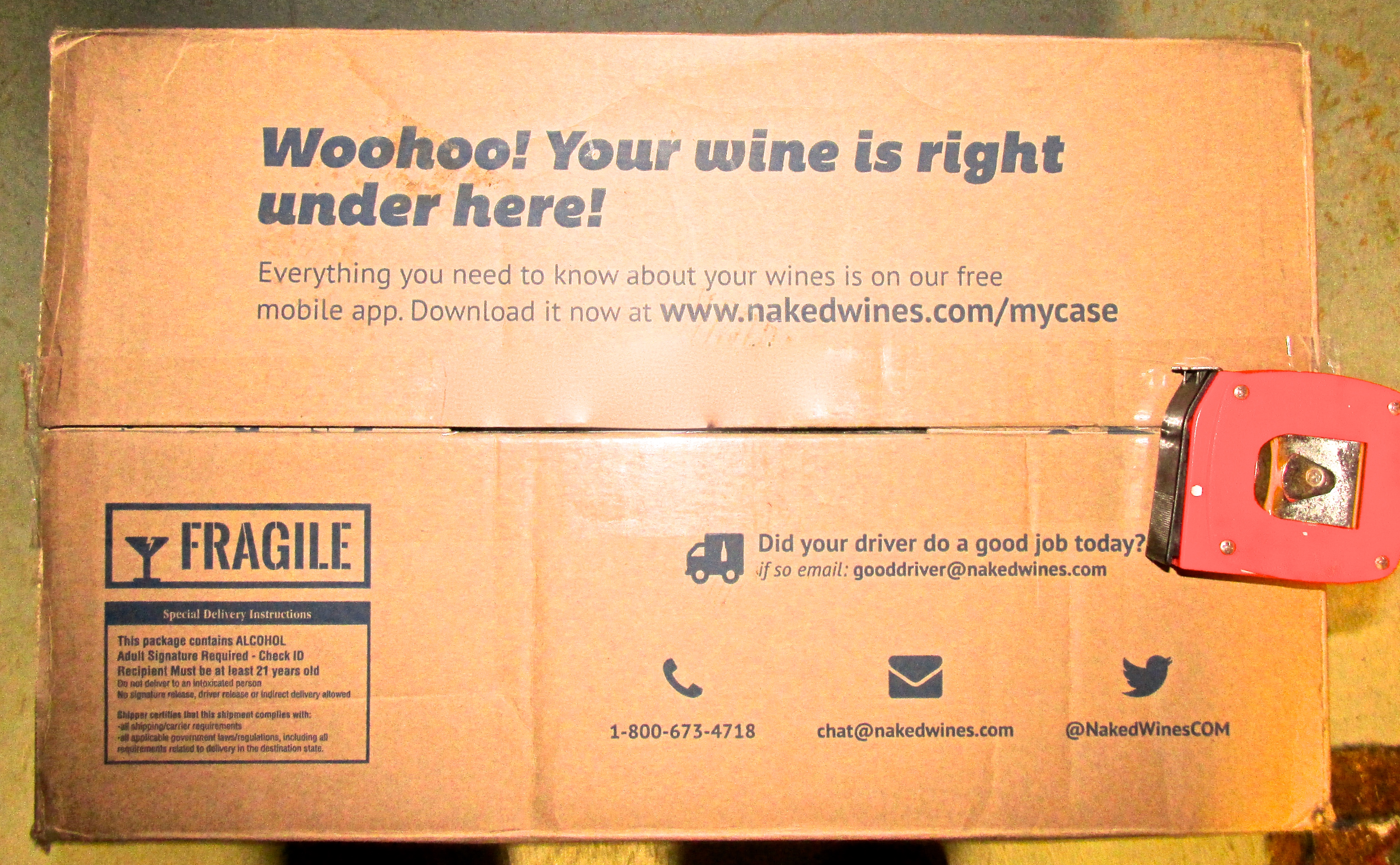Naked wines delivery