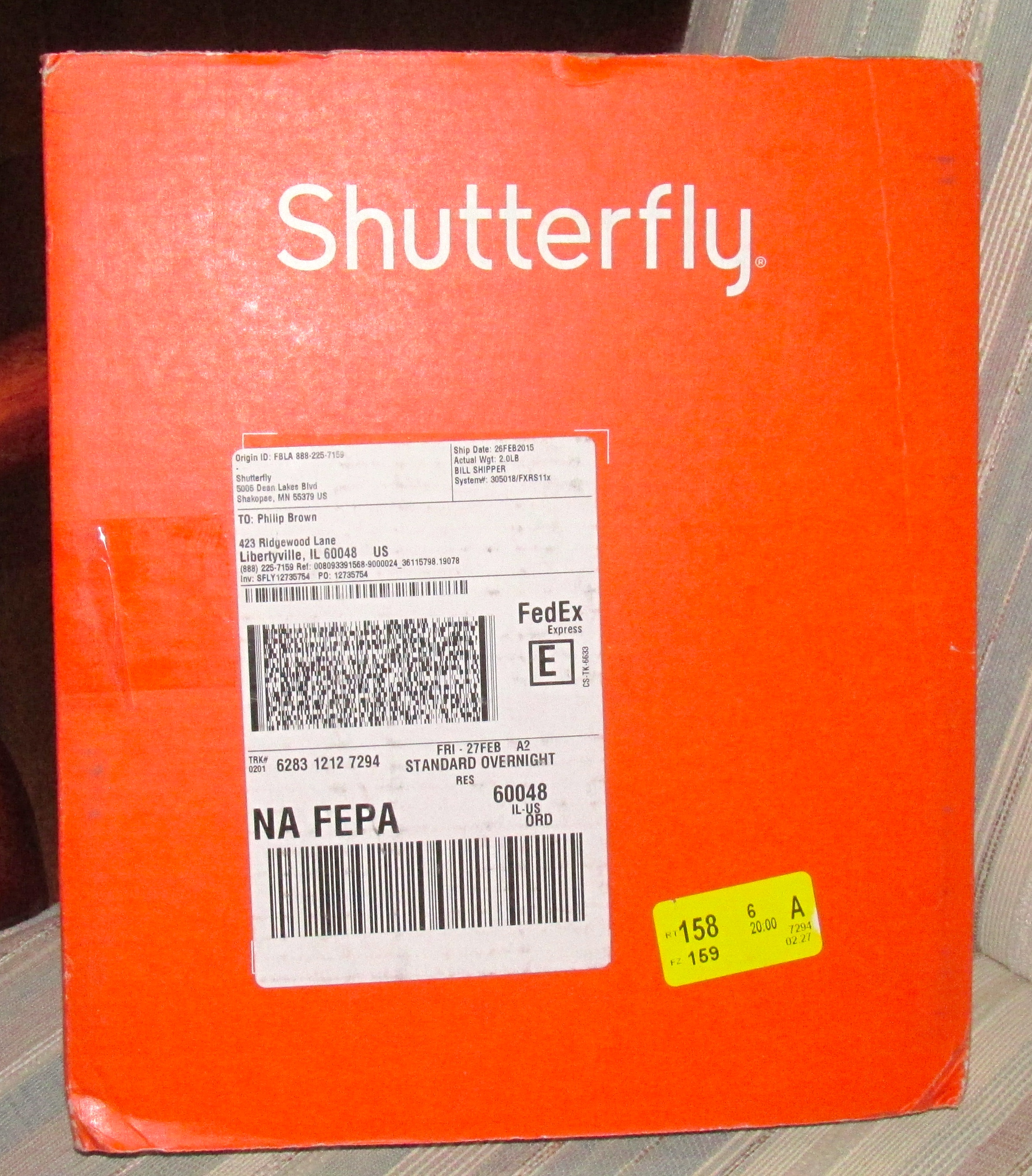 Usps phil brown page 2 shutterfly books enclosed along with some very attractive package inserts 1betcityfo Images